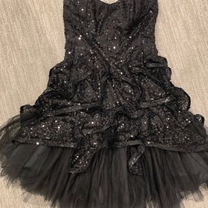 Betsey Johnson black sequin evening dress - size 2